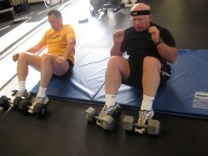 """Deadly Dave"" & ""The Don Todd"" gettin' some situps....you go boys!!!!"