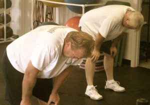 Russ Batzer talked Jim Hess into getting himself to CrossFit...he's loving it...really I'm not lying!!!