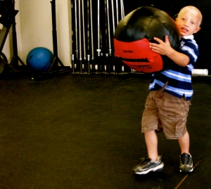 Ian Parrish; Strongman in making...never to early to start right?